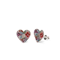 Picture of Lotus Heart Studs