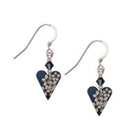 Picture of Jasmine Slim Heart Earrings & Crystal
