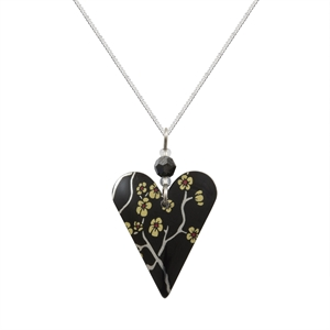 Picture of Willow Slim Heart & Crystal Necklace