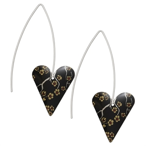 Picture of Willow Medium Heart Earrings Long