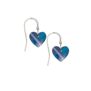 Picture of Blue Tartan Small Heart Earrings