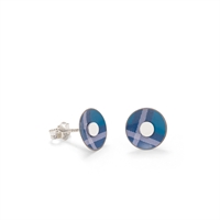 Picture of Blue Tartan Round Studs