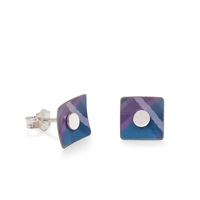Picture of Blue Tartan Square Studs