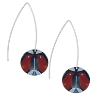 Picture of Ava Long Disc Earrings