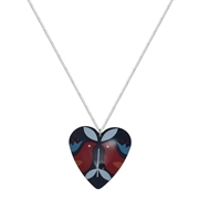 Picture of Ava Folk Print Heart Necklace