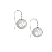 Picture of Hammered  Eco Aluminium Disc Earrings