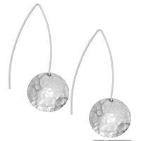 Picture of Hammered Eco Aluminium Long Disc Earrings