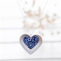 Picture of Forget Me Not Double Heart Necklace