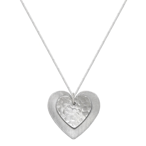 Picture of Hammered Aluminium Double Heart Necklace