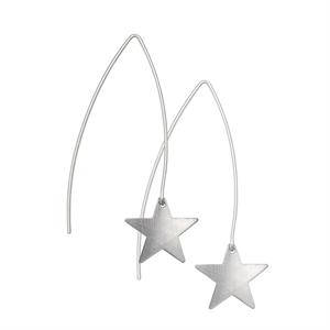 Picture of Long Eco Aluminium Star Earrings