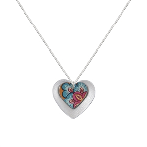 Picture of Tiger Lily Double Heart Necklace