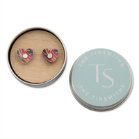 Picture of Tiger Lily Pattern Heart Studs