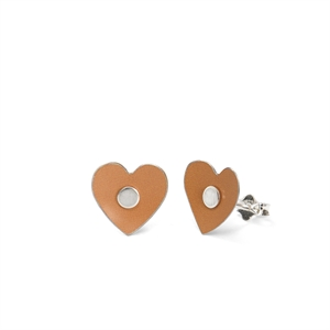 Picture of Tiger Lily Plain Heart Studs Marigold