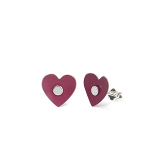 Picture of Tiger Lily Plain Heart Studs