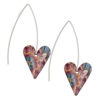 Picture of Tiger Lily Medium Heart Earrings Long