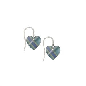 Picture of Green Tartan Small Heart Earrings