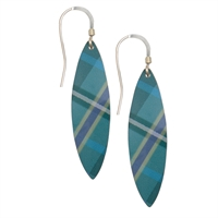 Picture of Green Tartan Leaf Earrings
