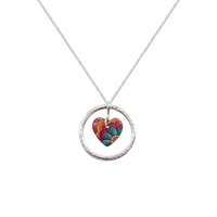 Picture of Tiger Lily Circle of Life Heart Pendant