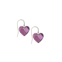 Picture of NEW Purple Tartan Small Heart Earrings