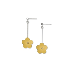 Picture of  Long Yellow Daisy Earrings