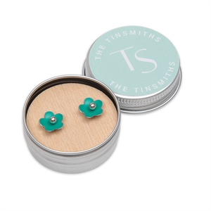 Picture of Jade Green Daisy Studs