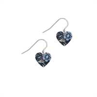 Picture of William Morris Midnight Floral Heart Earrings
