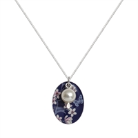 Picture of Jasmine Oval & Pearl Necklace