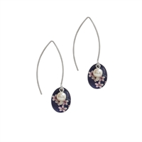 Picture of Jasmine Oval & Pearl Earrings