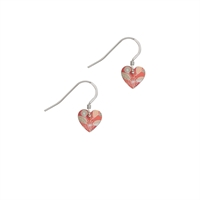 Picture of Coral Small Heart Earrings