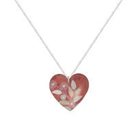 Picture of Coral Round Heart Necklace