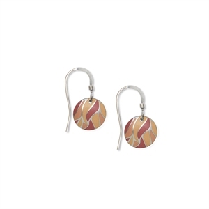 Picture of Nova Orange Small Round Earrings