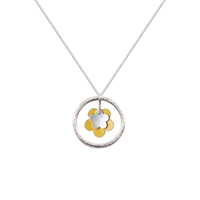 Picture of Daisy Necklace Yellow and Silver