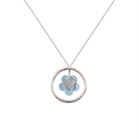 Picture of Daisy Necklace Pale Blue and Silver