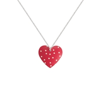 Picture of Red Polka Dot Heart Necklace