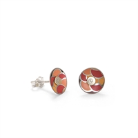 Picture of Nova Orange Round Stud Earrings in a Tin