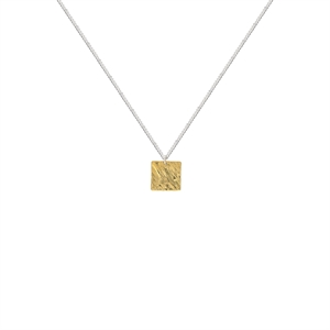Picture of Upcycled Brass Square Pendant Hand Hammered