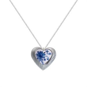 Picture of Cornflower Blue Double Heart Pendant