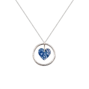 Picture of Cornflower Blue Circle of Life Heart Pendant