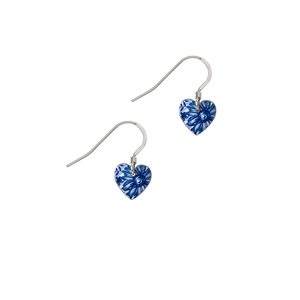 Picture of Cornflower Blue Small Heart Earrings