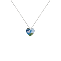 Picture of Small Blue Rosie Heart Necklace