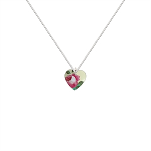 Picture of  Small Pink Rosie Heart Necklace