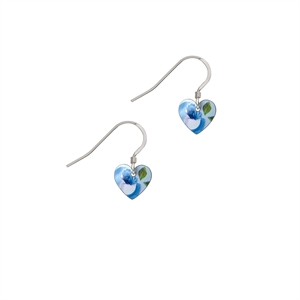 Picture of Rosie Blue Small Heart Earrings