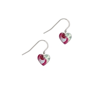 Picture of Rosie Pink Small Heart Earrings