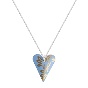 Picture of Kyoto Sky Slim Heart Necklace