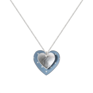 Picture of Daphne Double Dotty and Silver Heart Pendant