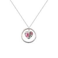 Picture of Daphne Floral Circle of Life Heart Pendant