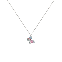 Picture of Daphne Floral Butterfly Necklace