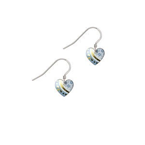 Picture of Daphne Pattern Small Heart Earrings