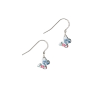 Picture of Tiny Daphne Floral Butterfly Earrings