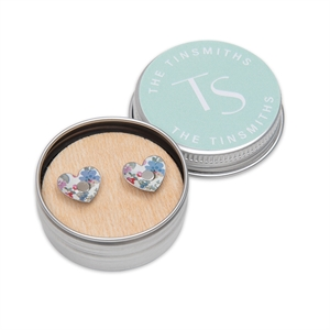 Picture of Daphne Floral Heart Studs